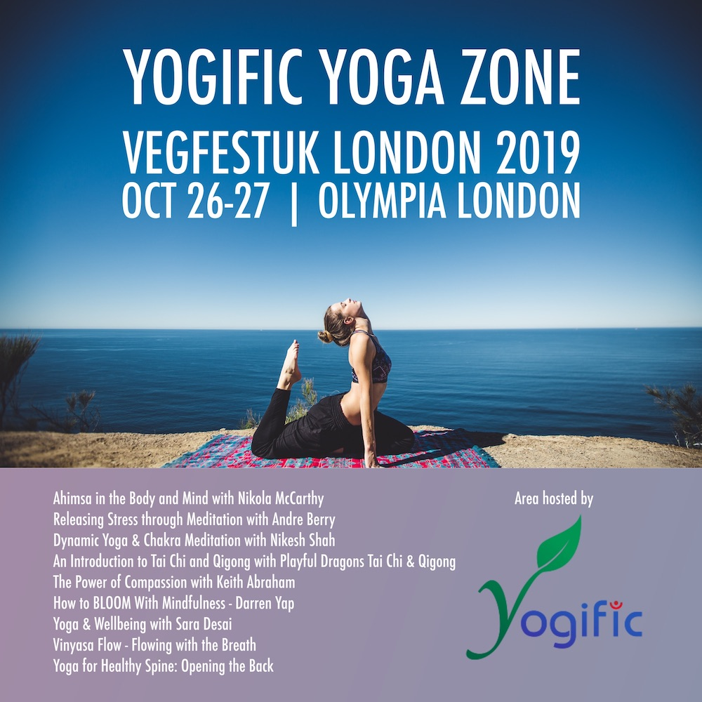 Yoga and Vegan Community group Yogific to host yoga and meditation sessions at VegfestUK London