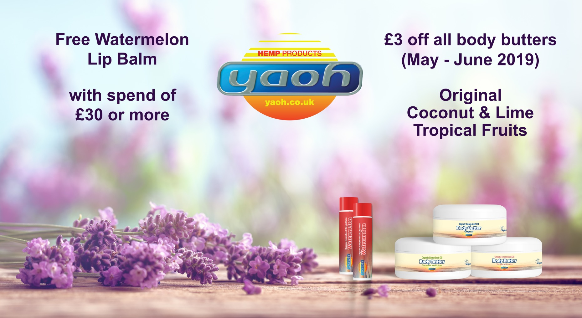 Sun's out – just right for Yaoh's refreshing Watermelon Lip Balms, tantalising Body Butters and safe Sunscreen
